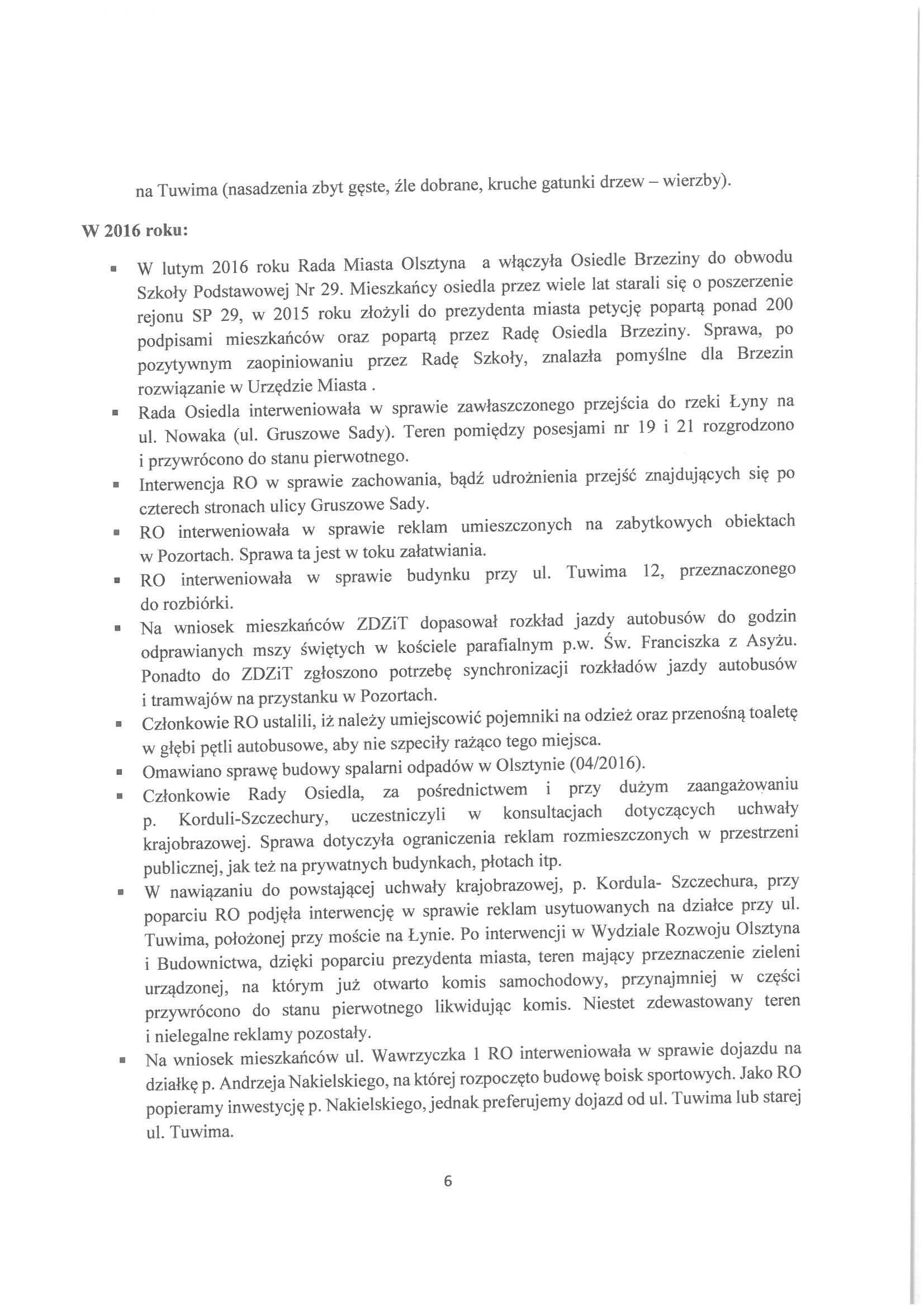 Sprawozdanie z działalności RO w latach 2015-2019-06