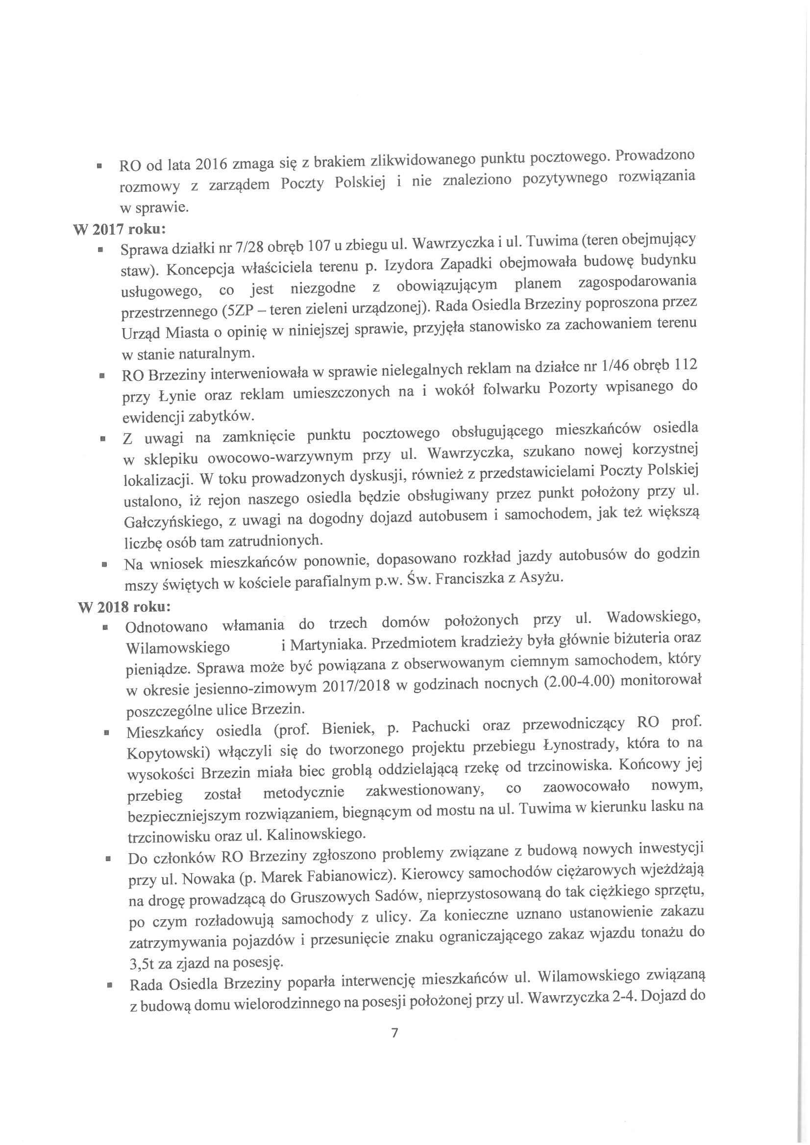 Sprawozdanie z działalności RO w latach 2015-2019-07