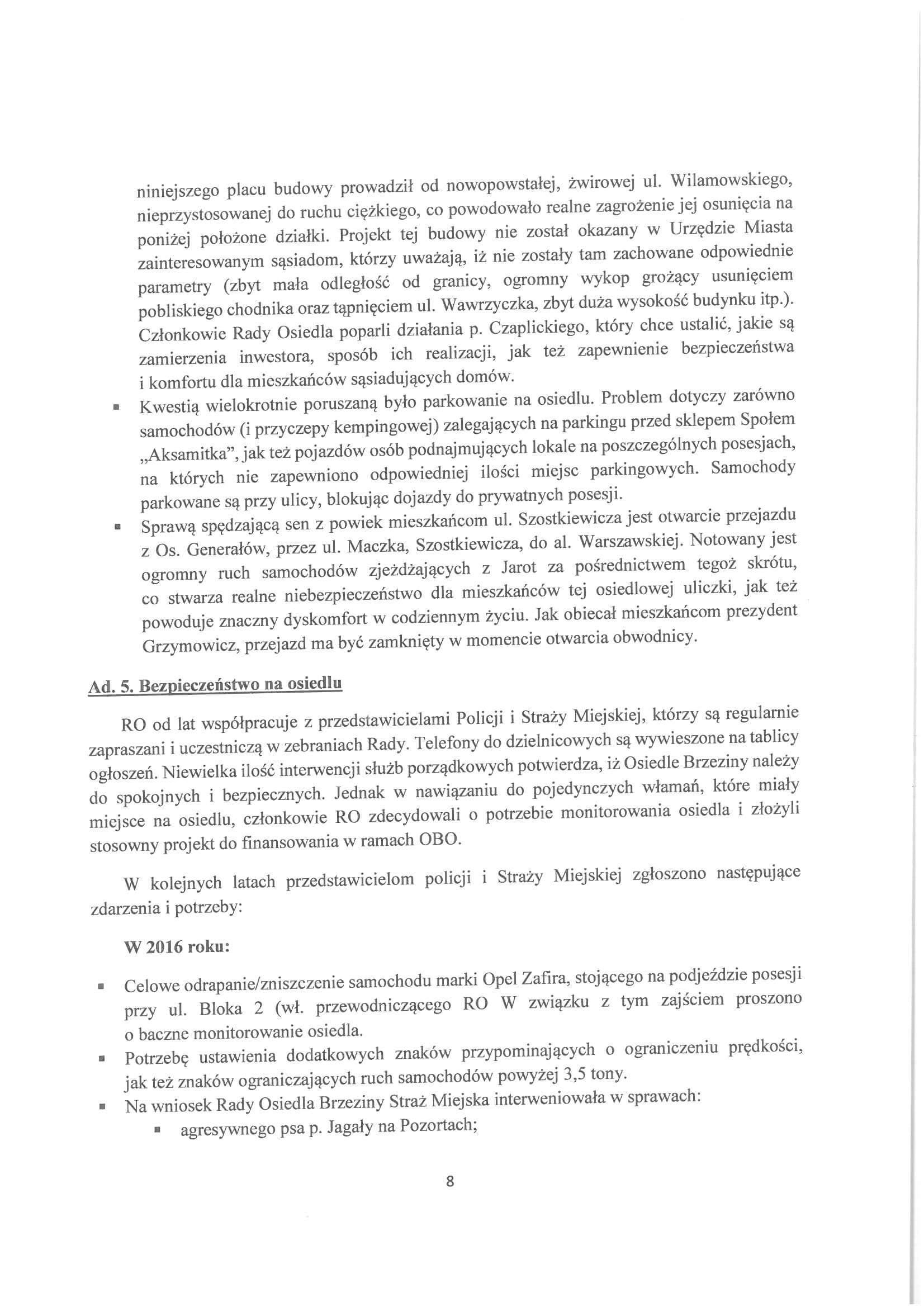 Sprawozdanie z działalności RO w latach 2015-2019-08