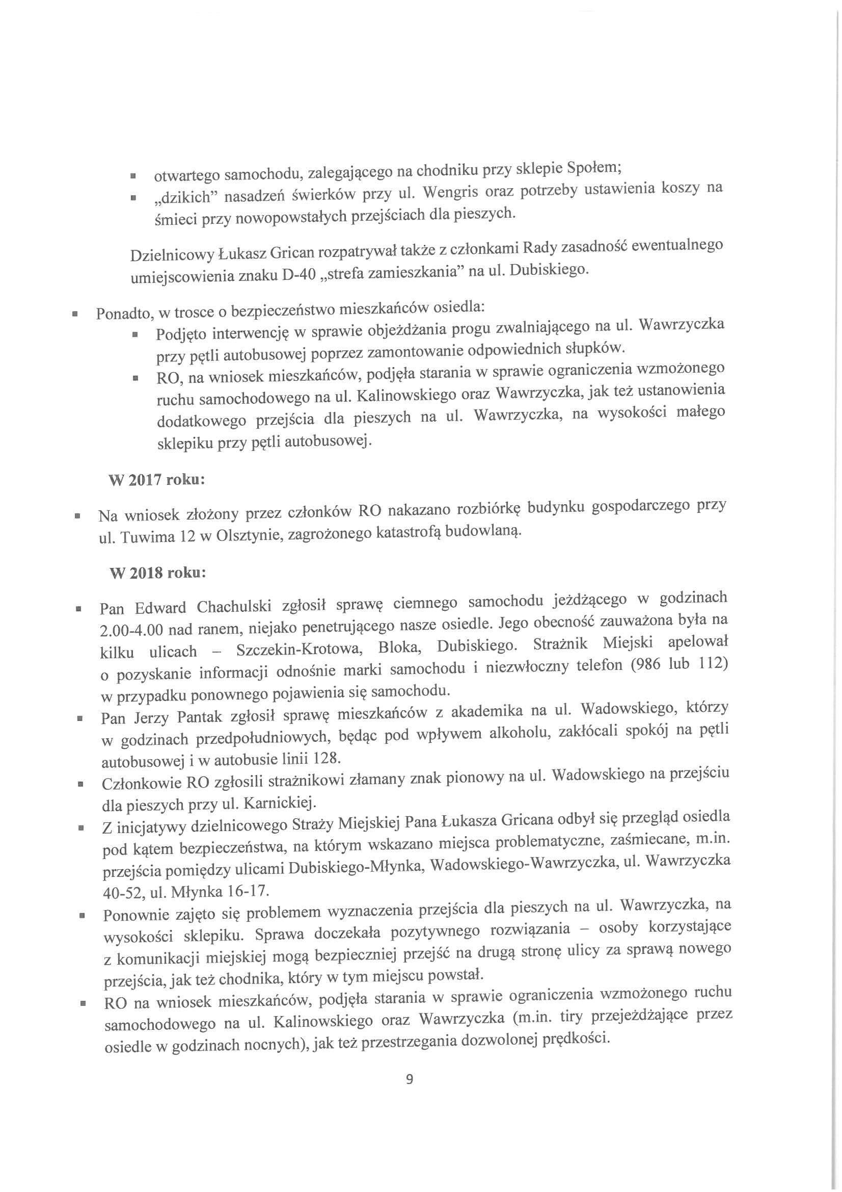 Sprawozdanie z działalności RO w latach 2015-2019-09
