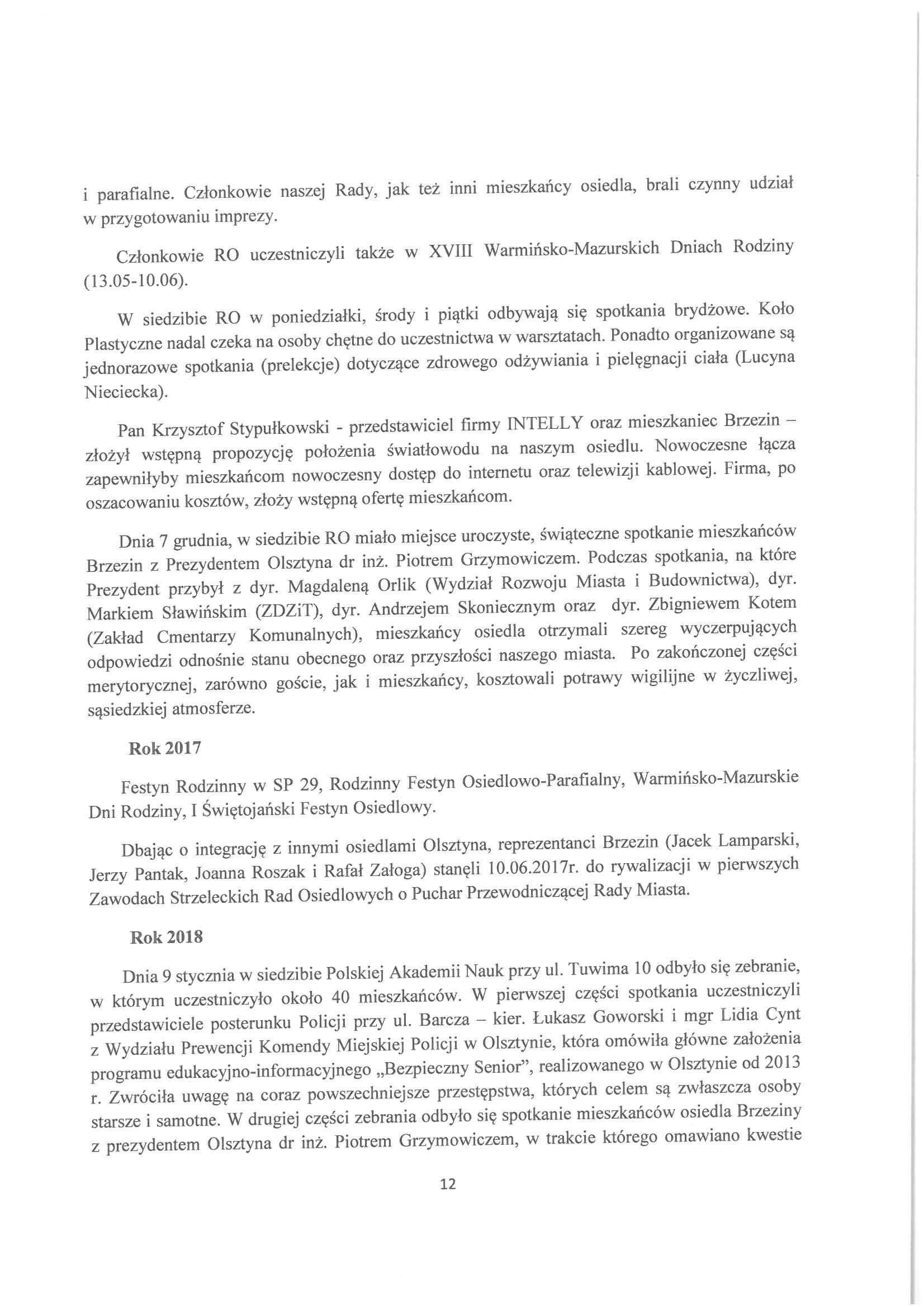 Sprawozdanie z działalności RO w latach 2015-2019-12